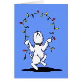 Joyful Christmas Westie Greeting Cards