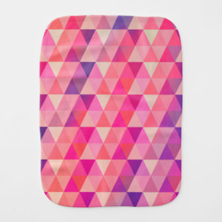 Joyful Colors Geometric Triangles Pattern Burp Cloth