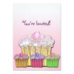 Joyful Cupcakes Invitation