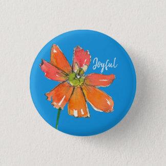 Joyful Daisy Honey Bee Pinback Button