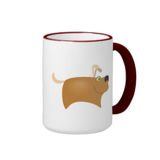 Joyful Dog Ringer Mug