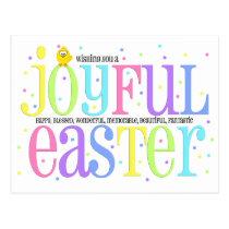 Joyful Easter Cute Chick Postcard