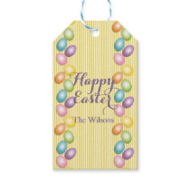 Joyful Easter Eggs Family or Business Name Gift Tags