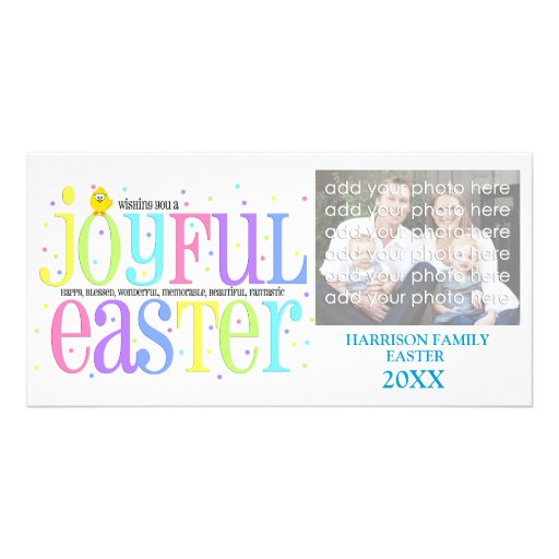 Joyful Easter Family Photo Card