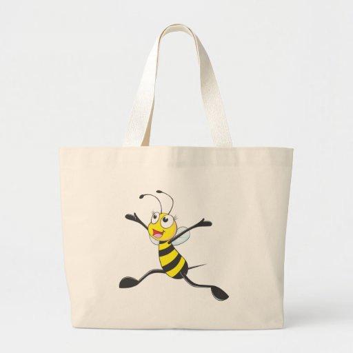 Joyful Female Bee Canvas Bags