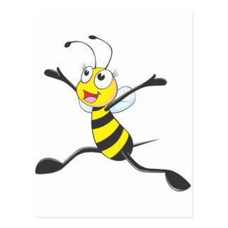 Joyful Female Bee Post Card