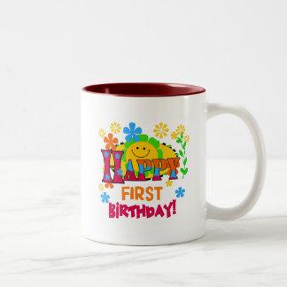 Joyful First Birthday T-shirts and Gifts Two-Tone Coffee Mug