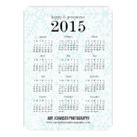 Joyful Flakes Calendar Business Holiday Cards Personalized Invitation