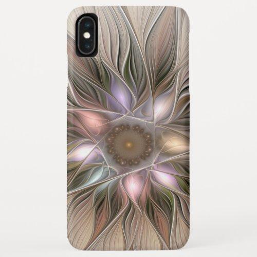 Joyful Flower Abstract Beige Brown Floral Fractal Phone Case
