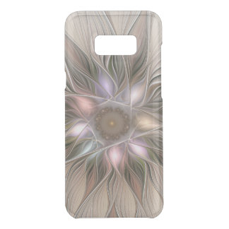 Joyful Flower Abstract Beige Brown Floral Fractal Uncommon Samsung Galaxy S8  Case