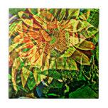 Joyful flower ceramic tiles