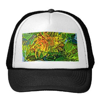 Joyful flower trucker hat
