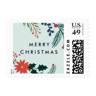 Joyful Foliage | Merry Christmas Postage