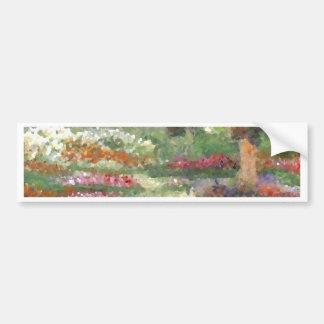 Joyful Gardens Impressionist Style Sunlit Flowers Bumper Sticker