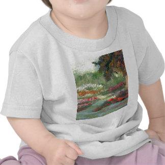 Joyful Gardens Impressionist Style Sunlit Flowers Tshirt