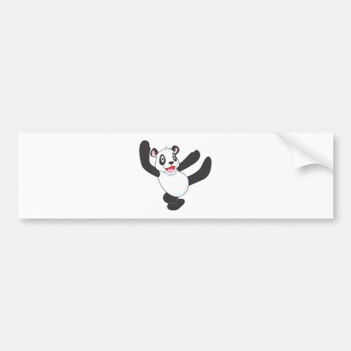 Joyful Giant Panda Bear Bumper Stickers