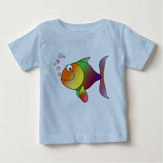 Joyful Goldfish in Sea Baby T-Shirt
