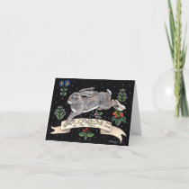 Joyful Good Luck Rabbit Blank Greeting Card
