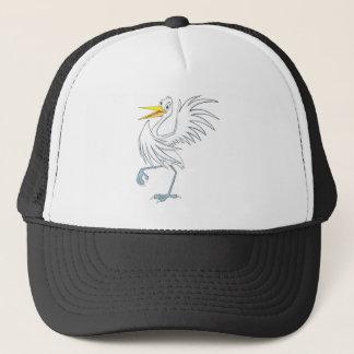 Joyful Great White Egret Trucker Hat