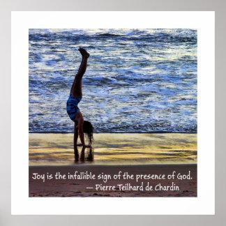 Joyful Handstand Poster