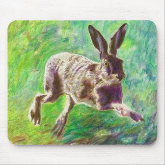Joyful hare 2011 mouse pad