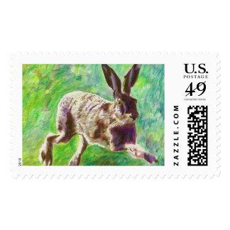 Joyful hare 2011 postage stamp