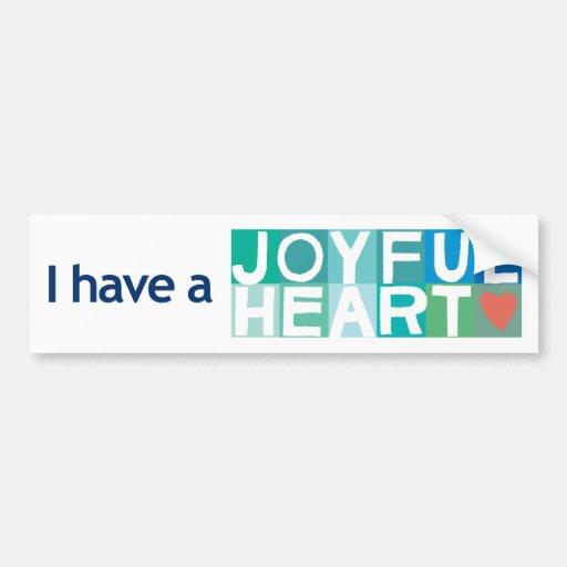 Joyful Heart Bumper Sticker - White