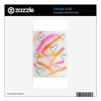 Joyful Heart Decal For iPhone 4