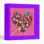 Joyful Heart Vinyl Binder