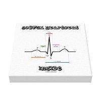 Joyful Heartbeat Inside ECG EKG Electrocardiogram Canvas Print