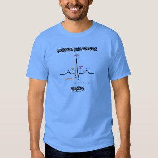 Joyful Heartbeat Inside ECG EKG Electrocardiogram Tee Shirt