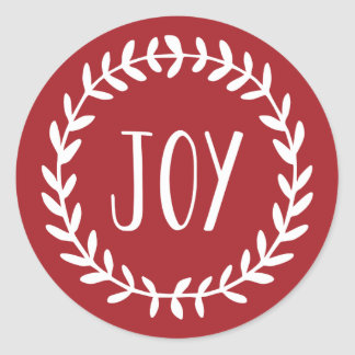Joyful Hearts Holiday Classic Round Sticker