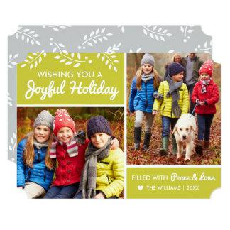 Joyful Holiday | Chartreuse Multi-Photo Card