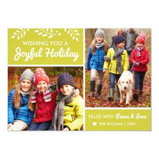 Joyful Holiday | Chartreuse Photo Card