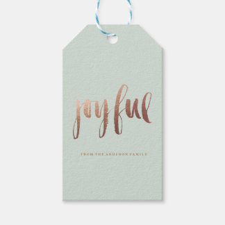 JOYFUL holiday christmas Gift Tags