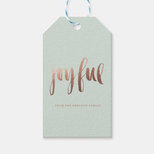JOYFUL holiday christmas Gift Tags...