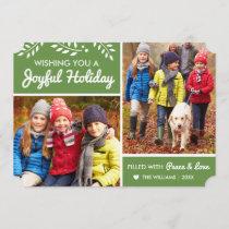 Joyful Holiday | Green Multi-Photo Card