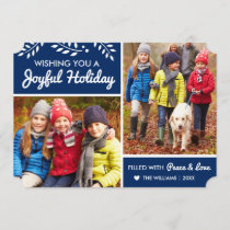 Joyful Holiday | Navy Multi-Photo Card