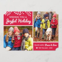 Joyful Holiday | Red Multi-Photo Card