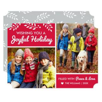 Joyful Holiday | Red Photo Card
