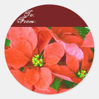 Joyful Holidays_ Round Sticker