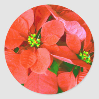 Joyful Holidays_ Round Stickers