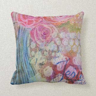 Joyful Jesus pillow
