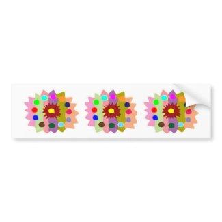 Joyful Kids Color Blasters n Sunflower Formations zazzle_bumpersticker