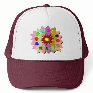 Joyful Kids Color Blasters n Sunflower Formations zazzle_hat
