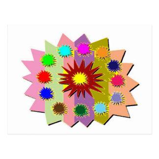 Joyful Kids Color Blasters n Sunflower Formations Postcard