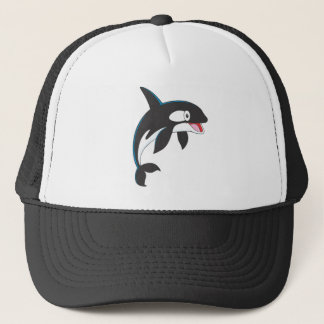 Joyful Killer Whale Trucker Hat