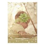 Joyful Lights Gold Happy Holidays Photo Card