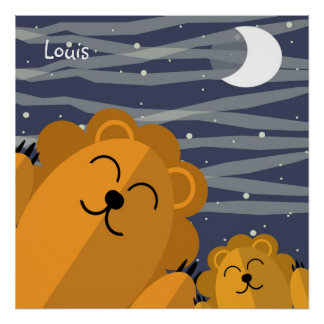 Joyful lions poster