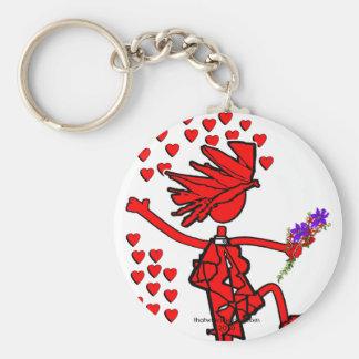 Joyful Love Forever Basic Round Button Keychain